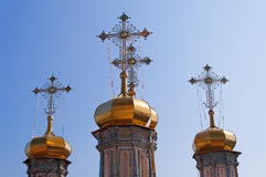 Domes of Holy Trinity Cathedral Stock Photo