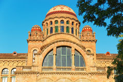 Domes of the Hospital de Sant Pau in Barcelona. In Spain. In English it is called as Hospital of the Holy Cross and Saint Paul. It used to be a hospital. Now it Stock Photos