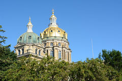 Domes at Iowa State Capitol Royalty Free Stock Photography