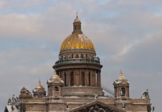 Domes of the Isakievsky cathedral Royalty Free Stock Photos