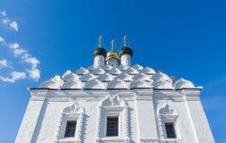 Domes and kokoshniks of the church in Kolomna Royalty Free Stock Photo