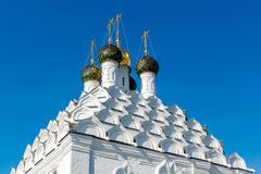 Domes and kokoshniks of the church in Kolomna Royalty Free Stock Images