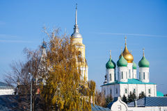 Domes in Kolomna. Domes of the old Orthodox Church in Kolomna Royalty Free Stock Photos