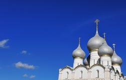 Domes of Kremlin of Rostov Veliky Stock Image