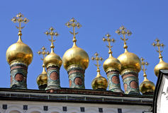 Domes of the Kremlins Churches and Cathedrals. Stock Images