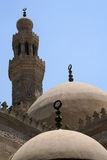 Domes & minaret in cairo. Egypt royalty free stock photography