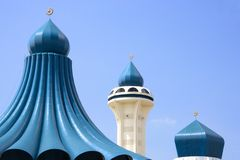 Domes and Minaret of a Mosque Royalty Free Stock Image