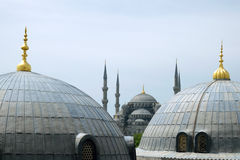 Domes and minarets in Istanbul Turkey Stock Image
