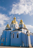 Domes of monastery. Domes of a temple of a monastery of sacred Michael in Kiev Stock Images
