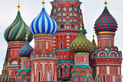 Domes of Moscow cathedral Royalty Free Stock Photography