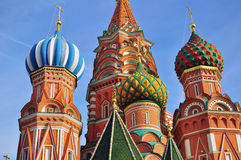 Domes of moscow churches Royalty Free Stock Image
