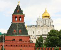 Domes of Moscow Kremlin Royalty Free Stock Images