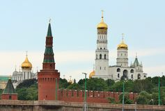Domes of Moscow Kremlin Stock Photo