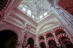 Domes of the Mosque-Cathedral in Cordoba. Spain Andalucia stock images