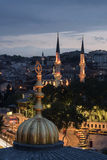 Domes and New Valide Mosque Stock Photo