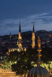 Domes and New Valide Mosque Stock Images