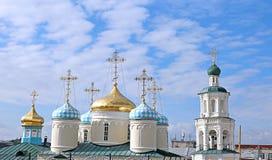Domes of Nicholas Cathedral in Kazan. Domes of Nikolsky Cathedral in Kazan, Tatarstan Royalty Free Stock Photo