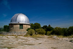 The domes of the old Athens Observatories Royalty Free Stock Image