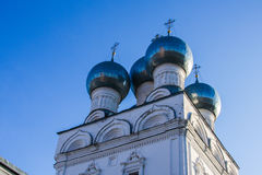 Domes. Of the old Orthodox Church Stock Photo