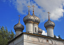 Domes of an old orthodox russian church Royalty Free Stock Images