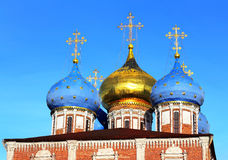 Domes of the orthodox cathedral Stock Image