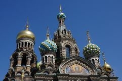 Domes of Orthodox Church Stock Image
