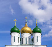 Domes of Orthodox Church Stock Photography