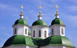 Domes of orthodox church Royalty Free Stock Image