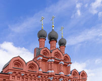 Domes of Orthodox Church Royalty Free Stock Photography