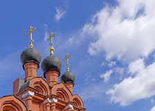 Domes of Orthodox Church Stock Photos