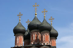 Domes of the Orthodox Church. Moscow, Russia Stock Photos