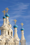 Domes of the Orthodox Church Royalty Free Stock Photography