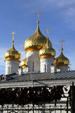 Domes of an Orthodox church. Royalty Free Stock Photo