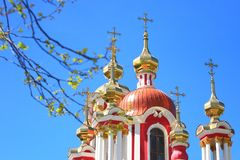 Domes of Orthodox church Stock Images