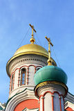 Domes of the orthodox church Royalty Free Stock Photos