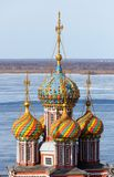 Domes of orthodox church Royalty Free Stock Photos
