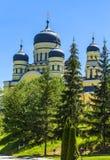 Domes of orthodox church in Suruchensky convent, Kishinev, Moldo Royalty Free Stock Photography