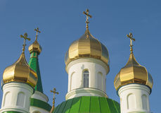 Domes of orthodox temple Royalty Free Stock Photo