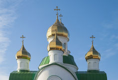 Domes of orthodox temple Royalty Free Stock Image