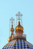Domes of the Orthodox temple Royalty Free Stock Photos