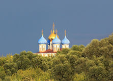 Domes of the ortodox Cathedral Royalty Free Stock Photos