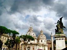 Domes of the Papal Basilica of Santa Maria Maggiore Stock Images