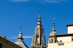 Domes of Primate Cathedral of Saint Mary of Toledo Stock Photos