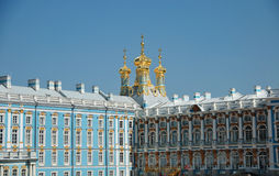 Domes of the Pushkin Palace Stock Photo