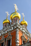 Domes of Resurrection Church in Kadashi Sloboda Stock Images