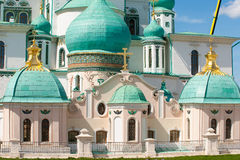 Domes of the Resurrection New Jerusalem Monastery. The monastery was founded in 1656 by Patriarch Nikon, for which a plan of Moscow was to be re-created set of Royalty Free Stock Image