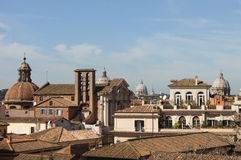 Domes in Rome Stock Photography