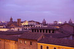 Domes of Rome Stock Image