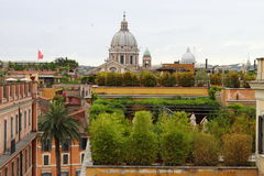 Domes in Rome Royalty Free Stock Images