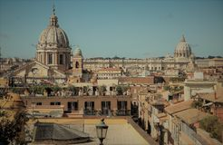 Domes in Rome Royalty Free Stock Photography